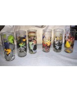LIBBEY 1960 Barware Set of 6 Tom Collins Roaring 20's Theme Glasses RARE... - $54.44