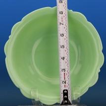 "Vintage McKee Jadeite Skokie Green 8 1/2"" Depression Glass Scalloped Edge Bowl  image 2"