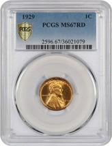 1929 1c PCGS MS67 RD - Gorgeous Superb Gem - Lincoln Cent - Gorgeous Sup... - $1,134.90