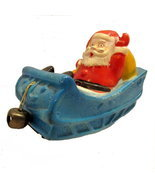 Vintage Japan Friction Santa in a Sled Toy - $64.95