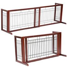 Adjustable Indoor Solid Wood Construction Pet Fence Gate Free Standing D... - $43.99
