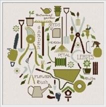 Gardening World cross stitch chart Alessandra Adelaide Needlework - $16.20