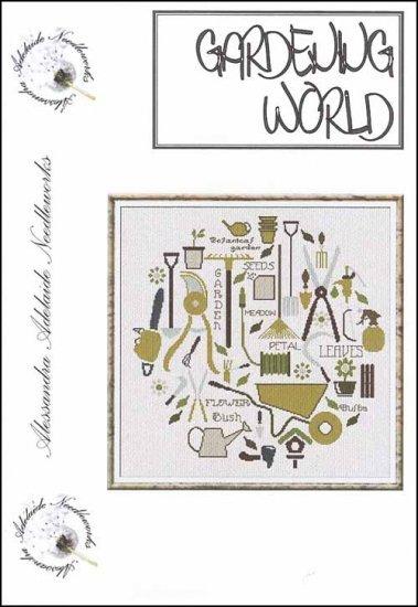 Gardening World cross stitch chart Alessandra Adelaide Needlework