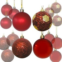 BANBERRY DESIGNS 32 CT Christmas Ball Ornaments Shatterproof - Red Balls... - $21.53