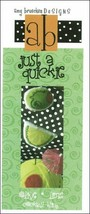 Lime Olive Just A Quickie cross stitch chart Amy Bruecken Designs - $3.60