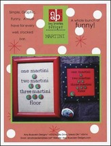 Martini cross stitch chart Amy Bruecken Designs - $7.20