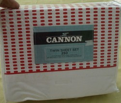 Cannon Rubie Rose Sheet Set - Brand New In Package - Cotton Blend 250 Tc Twin - $29.99