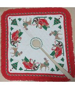 Handcrafted Christmas Tree Skirt Reversible Quilted Holiday Square Red L... - $59.35