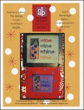 Whine cross stitch chart Amy Bruecken Designs - $7.20