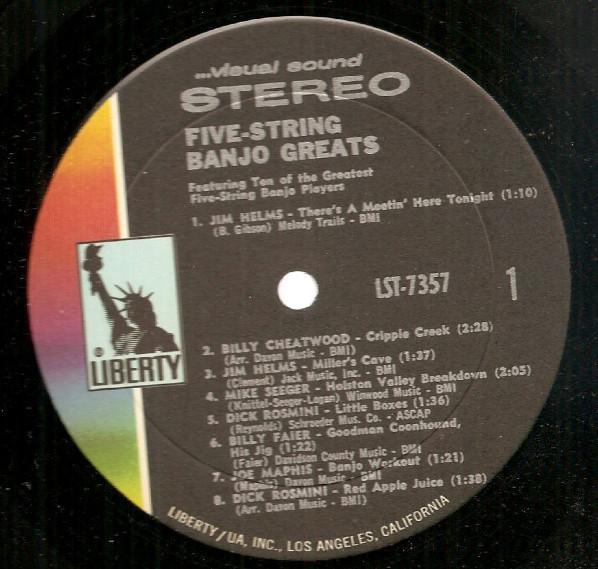 5-String Banjo Greats stereo LP nm shrink Roger McGuinn Dick Rosmini Joe Maphis