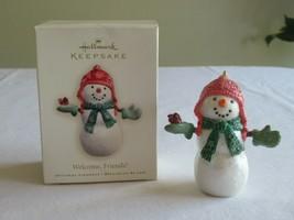 Hallmark Ornament SnowMan Welcome Friends 2007 Christmas Tree Cardinal R... - $9.99