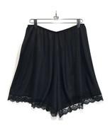 Vintage Wondermaid Tap Pants Black Antron III Nylon Scalloped Lace Plus ... - $26.07