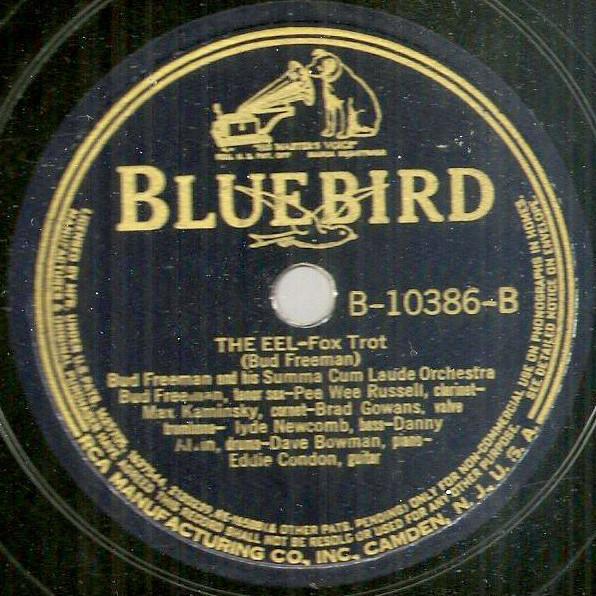 Bluebird jazz 78 Bud Freeman China Boy The Eel Pee Wee Russell Eddie Condon 1939