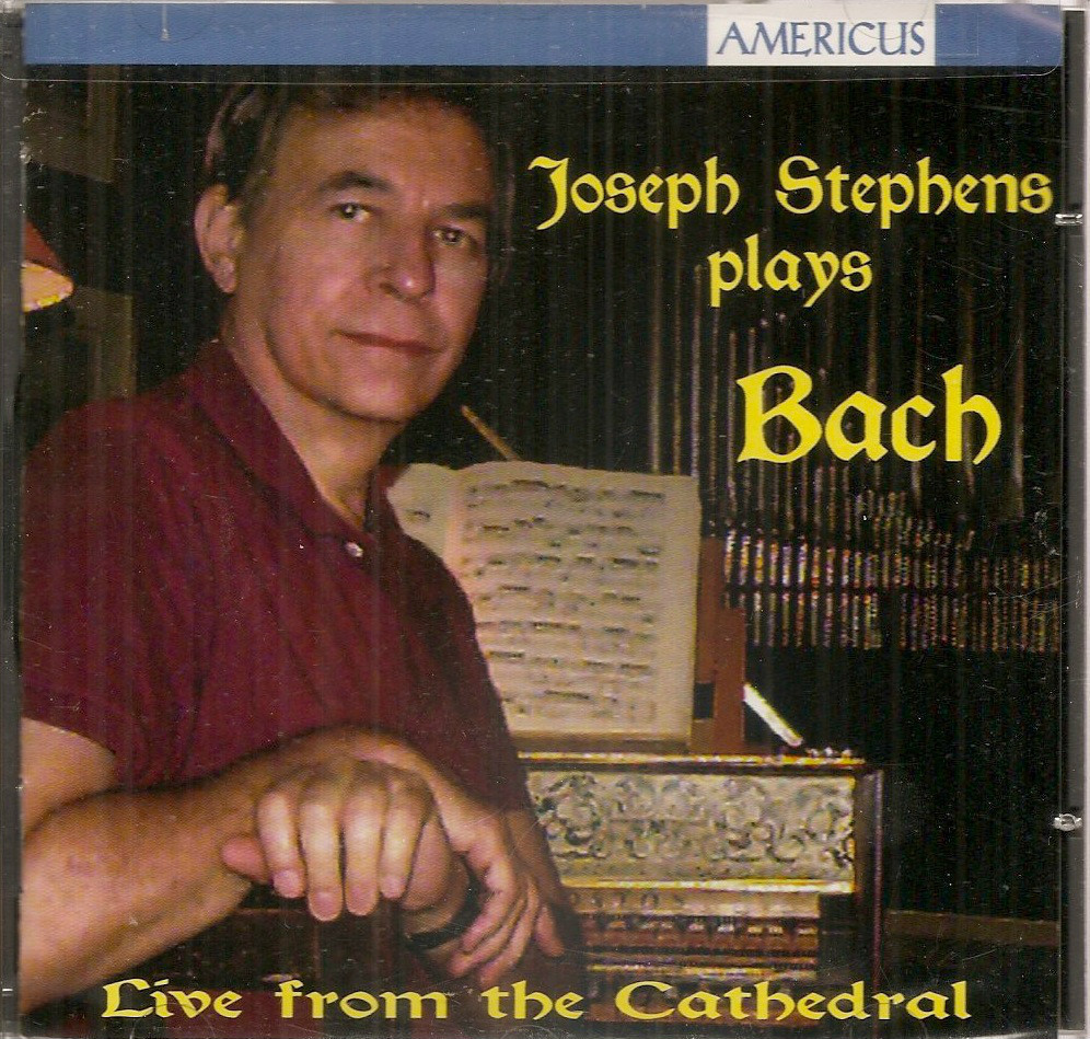 Joseph Stephens plays Bach new sealed CD harpsichord Cathedral Baltimore MD