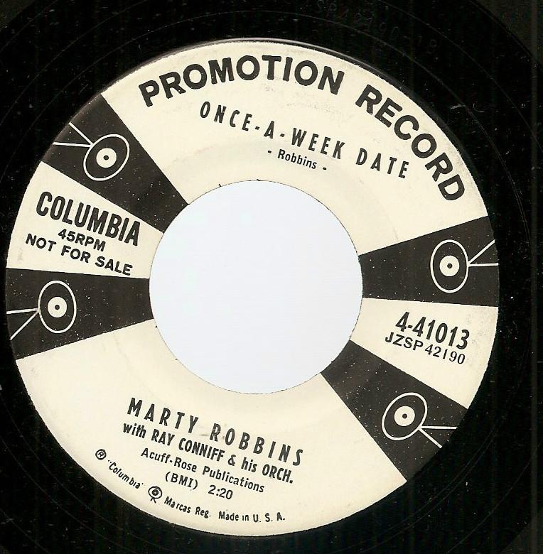 Marty Robbins promo country 45 ex Story of My Life Burt Bacharach Hal David '57