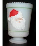 Fenton's  Hand Painted SANTA Votive /Candle Cup/Vase - $14.00