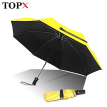 TopX® Fully Automatic Small Sun Umbrella Rain Women Three Folding Cute A... - $29.47