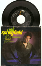 "Rick Springfield Don't Talk To Strangers Tonight US 7"" 45 PS RCA PB 1307... - $8.98"