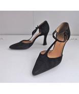 Black T Strap Pointed Toe High Heels Sacha Too Shoes 5 B Spain - $20.00