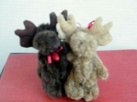 "Boyds Bears ""Dale And Ilona Moosley"" 3.5"" Plush Moose #568011- NOAHS- 2002 - $19.99"
