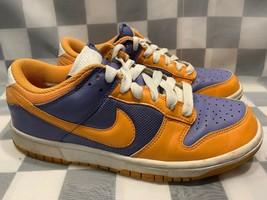 NIKE Dunk Low Women's Shoe Size 8.5 Orange Purple 317813-581 - $29.69