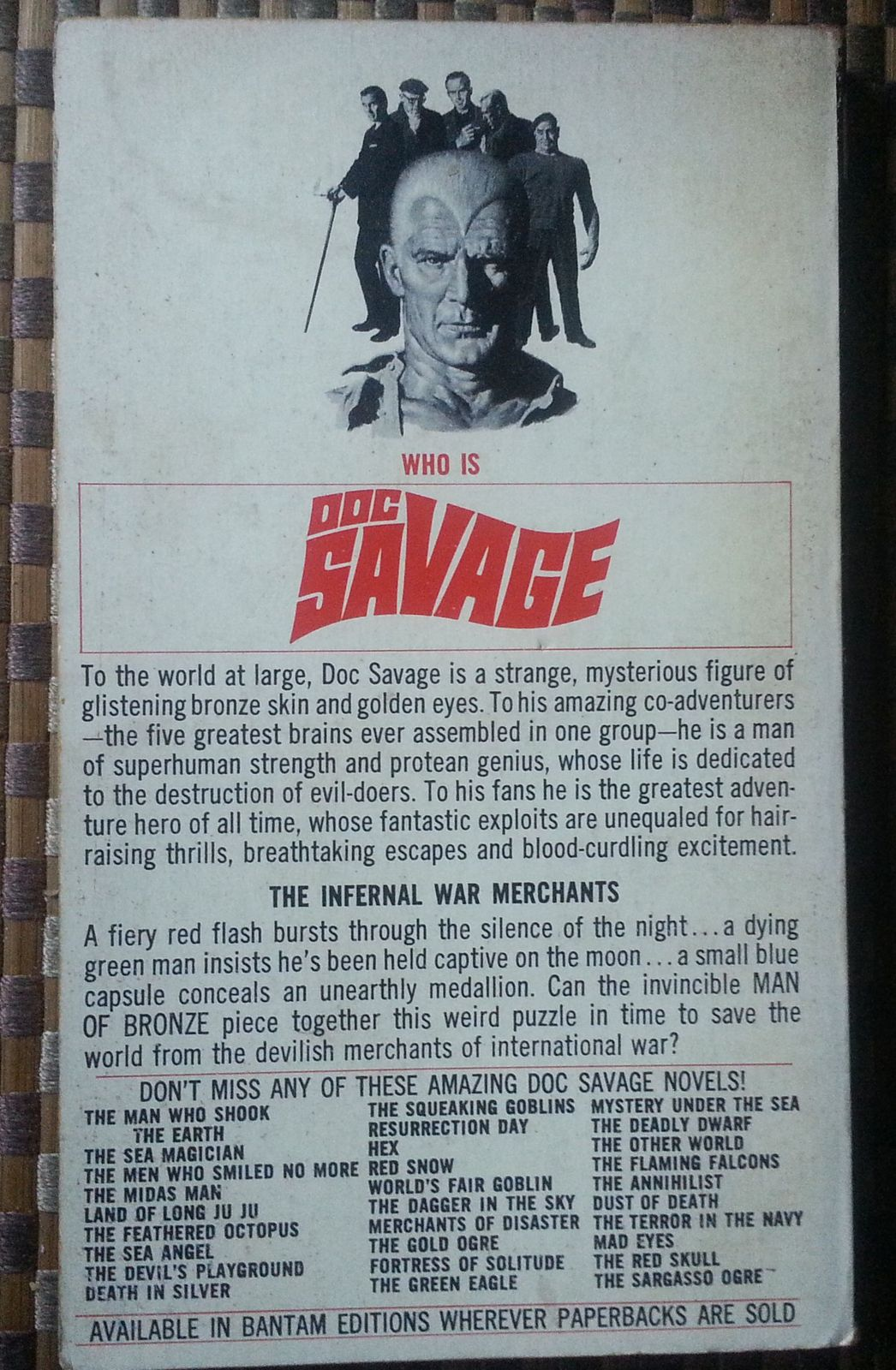 Doc Savage  Devil on the Moon  by Kenneth Robeson 1970 PB