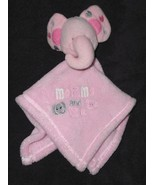 Baby Gear Mommy and Me Elephant Security Blanket Pink Grey Hearts Babygear - $17.79