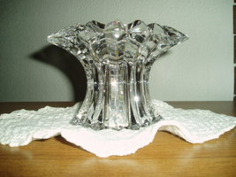 PartyLite Aurora Pillar Holder Lead Crystal Party Lite - $19.99