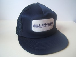 All Phase Electric Supply Company Patch Hat Vintage Blue Snapback Trucke... - $23.20