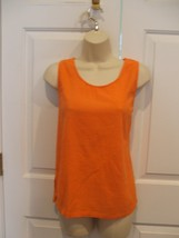 NEW IN PKG  styles to go bright orange 100% cotton  sleeveless  top small - $6.67