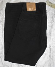 Mens American Eagle SLIM STRAIGHT Jeans Black Worn Color Size 26X28 NEW ... - $548,48 MXN
