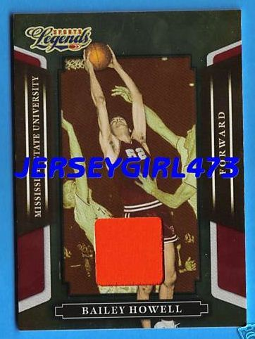 Bailey Howell 2008 Mississippi State Game Worn Jersey Material Basketball Card Bonanza