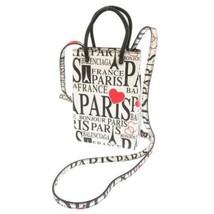 BALENCIAGA Bonjour Paris Calf Leather Blanc Noir593826 Shoulder Bag Authentic