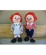 Vintage RAGGEDY ANN & ANDY Bend-Em Dolls - $25.00
