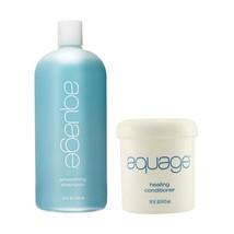 Aquage Smoothing Shampoo 35 Oz & Healing Conditioner 16 Oz Duo - $54.99