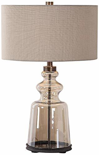 Uttermost Irving Amber Glass Table Lamp image 2