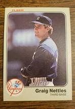1983 Fleer #391 Graig Nettles New York Yankees Baseball Card MT - $2.84