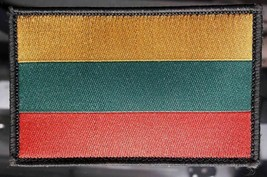 Lithuanian flag Military stripes on the velcro . Lithuanian army  Size 8... - $4.49