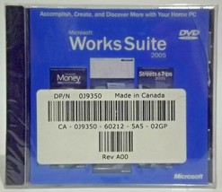 Microsoft Works Suite 2005 Word Money Streets & Trips Encarta Picture It... - $18.97