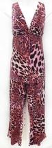 Natori Cruz Sz M 2pc Pajamas Lounge Set Pink Orange Animal Print Womens ... - $33.25