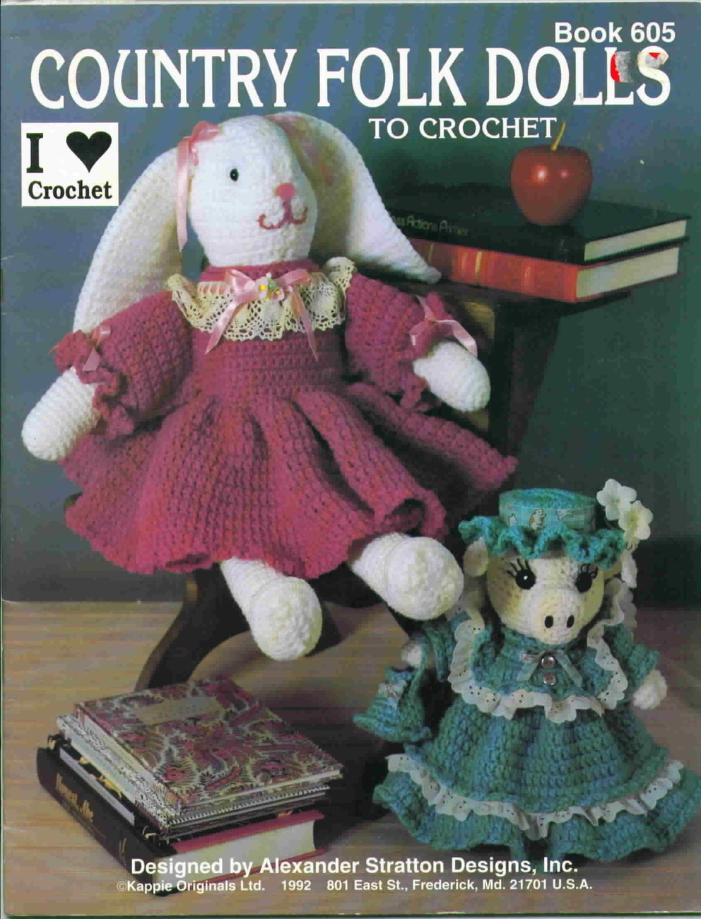 Kappie originals country folk dolls to crochet