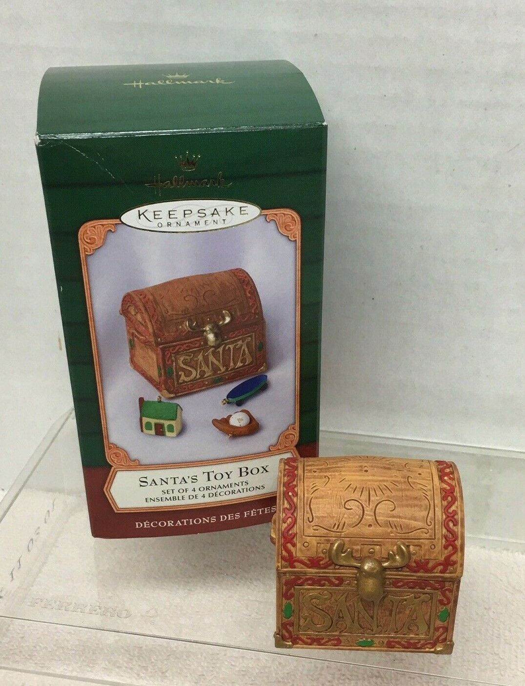 Primary image for 2001 Santas Toy Box Hallmark Christmas Tree Ornament MIB w Price Tag