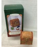 2001 Santas Toy Box Hallmark Christmas Tree Ornament MIB w Price Tag - $9.41