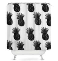 Sweetenlife Pineapple Series polyester Shower Curtain Waterproof Bathroom Curtai