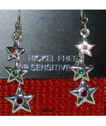 Falling Stars Holiday Dangle Star Earrings  NWT - $8.99