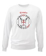 TEMPLAR-NON NOBIS DOMINE .. 012 - NEW WHITE COTTON SWEATSHIRT - $34.38