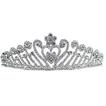 Nobel Dazzle Sliver Alloy Wedding Hair Comb Crown Headband