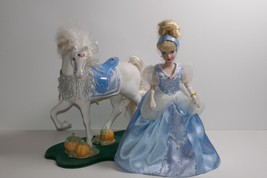 Disney Princess Cinderella Porcelain Keepsake Doll & Horse By Brass Key - $49.99