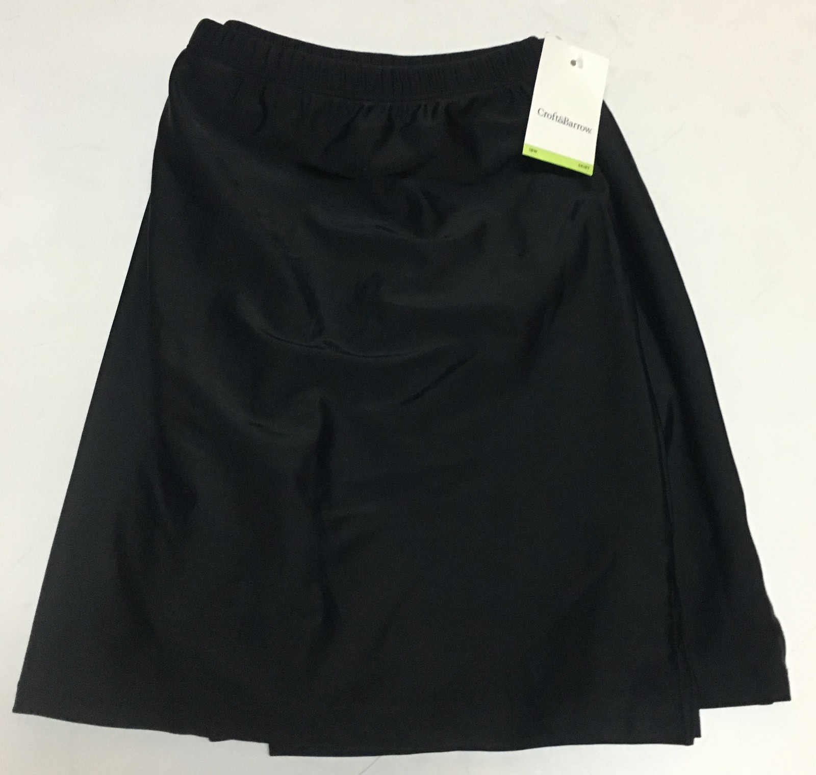 Croft & Barrow Activity Swimwear Skirt 18W Black image 7