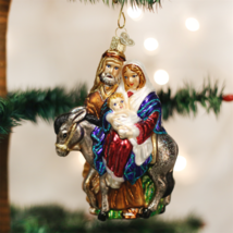 OLD WORLD CHRISTMAS FLIGHT TO EGYPT GLASS CHRISTMAS ORNAMENT 10209 - $26.88